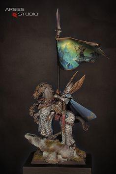 High elf prince Standard bearer