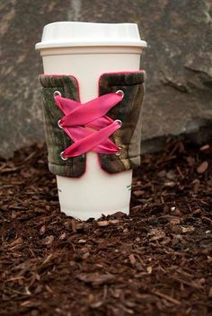 Pink Camo drink koozie by CamoInWashington on Etsy, $5.00