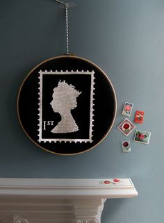 Her Royal Majesty cross-stitch kit #postage_stamp #mail #stitching #sewing