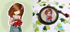 Medallón florista-La factoría de Nono Enamel, My Love, Accessories, Products, Lockets, Enamels, Vitreous Enamel, Beauty Products, Glaze