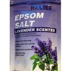 #Epsom #Salt #Lavender #Scented #Soothing #Soak Relief Whirlpool #Natural #Bath