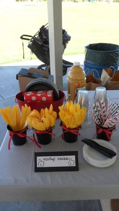 "Photo 1 of 34: Mickey and Minnie / Birthday ""Eli and Emi's First Birthday - Breakfast in the Park"" 