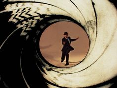 The opening shot in Bond films was actually filmed through the barrel of a gun.