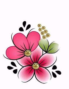 Flower Images, Flower Art, Paper Quilling Flowers, One Stroke Nails, Rock Flowers, Bug Art, Birth Flowers, Simple Doodles, Flower Doodles