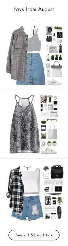 """""""favs from August"""" by amy-lopez-cxxi ❤ liked on Polyvore featuring Boohoo, Chicnova Fashion, NIKE, Whistles, Diptyque, Dot & Bo, Ileana Makri, Christian Dior, Lovebullets and Topshop"""