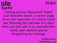 No wonder!!!! I have clinical anxiety and literally watch the same movies, shows, listen to the same song on repeat the whole time I'm at work... It all makes sense now: