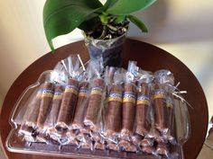 Party favors: twix cigars.                                                                                                                                                                                 More