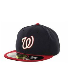 New Era Washington Nationals Authentic Collection 59FIFTY Hat 59fifty Hats 6de7a86221c