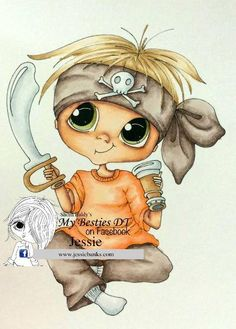 Bestie boy pirate close-up by Jessie Banks... (pinned from Facebook)