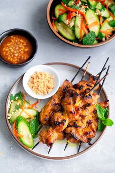 Singapore-Style Chicken Satay - Taming of the Spoon
