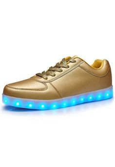 Leuchtende Schuhe Nubuk Herren
