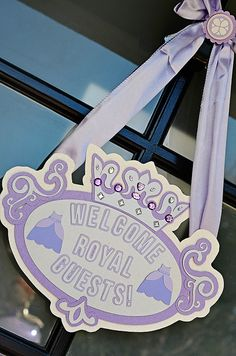 """A royal """"Sofia the First"""" inspired lavender and white bash for Liesl's birthday! Sophia The First Birthday Party Ideas, Little Girl Birthday, Third Birthday, 4th Birthday Parties, Sofia The First Cake, Baby Birthday, Princess Sofia Birthday, Princess Party, Princess Sophia"""