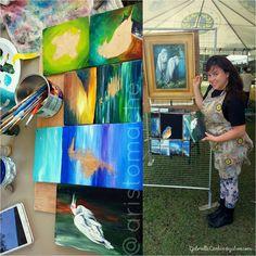 Beautiful day today. A tad windy for the display lol.  #art #artwork #artist #arte #artistic #arts #paint #paints #painter #painting #paintings #brushes #canvas #oilpaint #oilpainting #oilpainter #oils #neworleansart #nola #nolaart #neworleans #louisiana #frenchquarter #Chalmette #jacksonsquare #egret #DaParish #bird #birds #BirdFest by aristomache