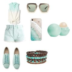 """""""Summer time!"""" by aqualily88 on Polyvore featuring Gap, Hilfiger Denim, Gucci, Gray Malin and Eos"""