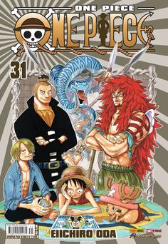 Capa brasileira de One Piece #31 (lançamento entre 10 de agosto e 10 de setembro) Rumo ao final de Skypiea.