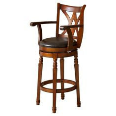 Christopher Knight Home Eclipse Swivel with Arms Barstool - Chocolate