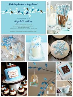 winter baby shower - change from birds to owls