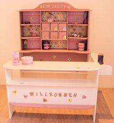 Kaufladen weiß rosa