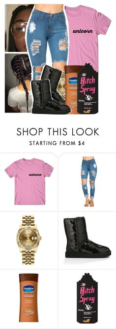 """😋."" by xluxaryx ❤ liked on Polyvore featuring Rolex and UGG Australia"