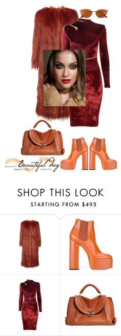 """""""Beautiful day"""" by zabead ❤ liked on Polyvore featuring Dries Van Noten, Laurence Dacade, Agent Provocateur, Salvatore Ferragamo and RetroSuperFuture"""