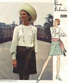 1960s Pierre Balmain Vogue Paris Original Sewing by CloesCloset