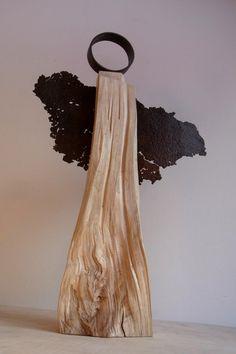 handgefertigter Engel aus Holz / Stahl  von BK s kleine Tochter auf DaWanda.com