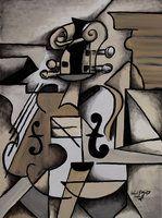 Violín de Picasso por EddieTheYeti