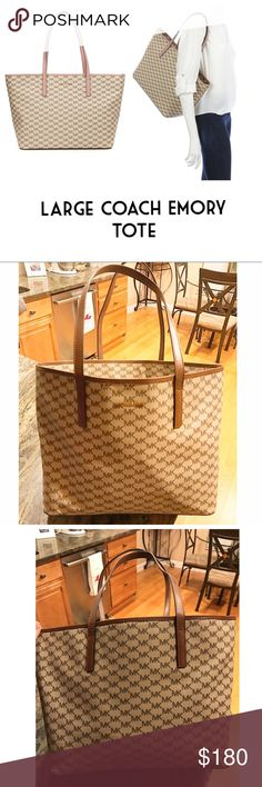 Michael Kors Large Emory Tote- New With Tags I would love to keep this MK Tote for myself, but I need the money! It's beautiful and roomy and so adorable! I love it!!!! New with Tags. Original Price is $328. Natural/Luggage Color. Large Emory Tote. Michael Kors Bags Totes