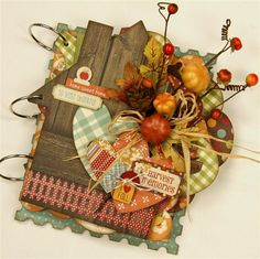 Simple Stories Fall Collection. I know it's and album cover but want to make the cover for a Thanksgiving door hanging!