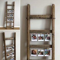 © Les Petites Chineuses - Ancienne échelle en bois DIY - Superbe échelle ancienne en bois pour DIY pour accrocher des photos - Echelle en bois pour faire un cadre #Brocante #Décoration #Echelle #Bois #Ancien #Cadre #DIY #FleaMarket #LPC #LesPetitesChineuses #DécoByLPC Ladder Display, Ladder Decor, Photo Deco, Bois Diy, Home And Deco, Wooden Crafts, Diy Photo, Cadre Diy, Sewing Projects