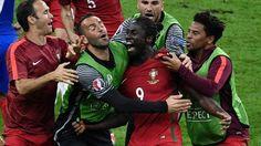 Éder comemora o gol de Portugal na final da Eurocopa contra a França