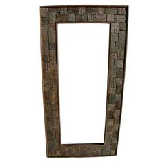 Rustic Wood Hand Painted Carved #Mirror #PhotoFrame http://www.sierralivingconcepts.com/