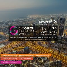 #cloudcomputing Emorphis Visiting 36th #Gitex Technology Week at #Dubai 16 to 19 Oct 2016. Call/Email to Setup A M http://pic.twitter.com/peeRfAHZTE   Cloud Computing 4U (@Cl0udComputing) September 29 2016