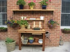 Potting Bench from Outdoor Living Today