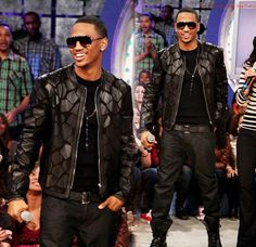 Trey songz never looked better .. I like the all black on black look