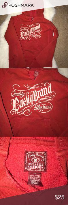 Lucky Brand hooded sweat shirt Lucky Brand hooded sweat shirt Lucky Brand Tops Sweatshirts & Hoodies