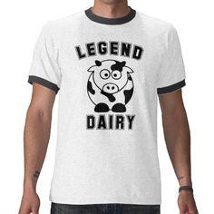 Legend Dairy Cow Tshirts