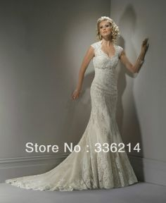 2013 New Lace Mermaid Backless V Neck Wedding Dress Custom Size 2 4 6 8 10 12 14 16 18 20++ $140.00