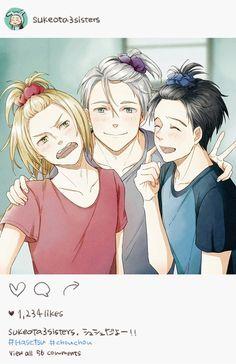 Vitya, Yuuri and Yura