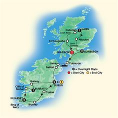 Itinerary | Taste of Scotland and Ireland Tour | 2014 Tour Of Ireland
