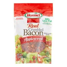 Hormel Real Crumbled Bacon, Applewood Smoke, 3 Oz Hormel Bacon, Snack Recipes, Snacks, Bacon Bits, Chips, Smoke, Dishes, Food, Snack Mix Recipes