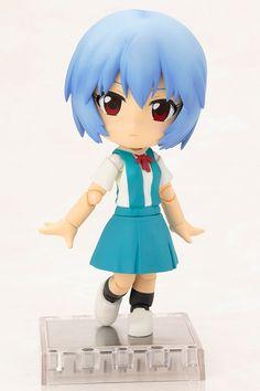 "Crunchyroll - Kotobukiya Adds ""Evangelion"" Rei & Asuka Cu-poche Deformed Figures"