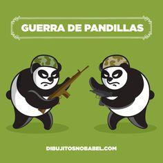 guerra de pandillas #humor #ilustración