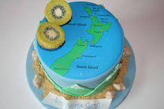 for this baby shower cake idea i baked a round butter cake then . , Birthday Cakes NJ - New Zealand Bon Voyage Custom Cake, . cake or a . Custom Birthday Cakes, Cool Birthday Cakes, Custom Cakes, Birthday Cards, Bon Voyage Cake, Bon Voyage Party, Paul Cakes, Map Cake, Travel Cake