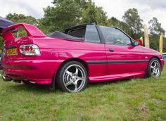 Pink Ford Escort Cabriolet #CarFlash #FightBreastCancer