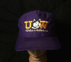 Vintage 1980's UW Huskies SnapBack Trucker Hat by 413productions on Etsy