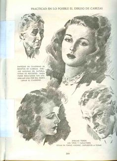 Andrew Loomis - Ilustración creadora (Español) Andrew Loomis, Face Illustration, Creative Illustration, Illustration Artists, Portrait Sketches, Portrait Art, Drawing Sketches, 3d Pencil Drawings, Interesting Drawings