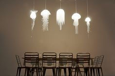 Glowing Jellyfish Lamps Produce Magical Underwater Setting - My Modern Metropolis