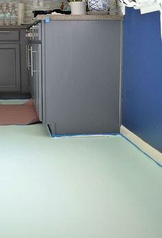 painted linoleum floors farmhouse kitchen remodel. Black Bedroom Furniture Sets. Home Design Ideas