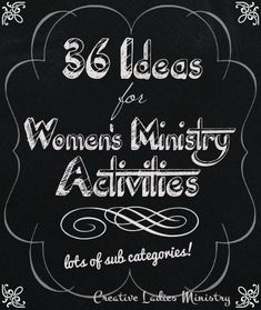 36 Church Ladies Group Activities for Women's Ministry: from Creative Ladies Ministry